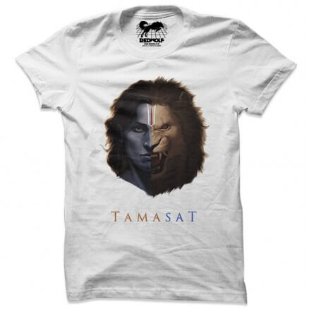 Tamasat (White) - Project Mishram Official Tshirt