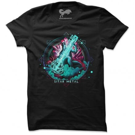 Sitar Metal Black T-shirt