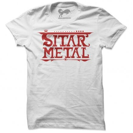 Sitar Metal White T-shirt