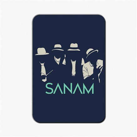 Sanam: Hats & Ties Silhouette - Fridge Magnet [Pre-order - Ships 24th January 2018]