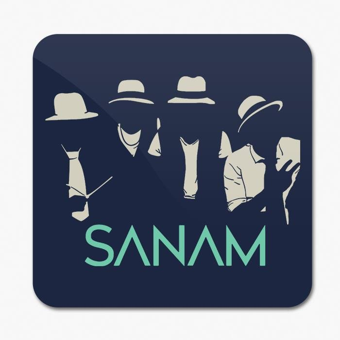 Sanam: Hats & Ties Silhouette - Coaster [Pre-order - Ships 24th January 2018]