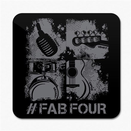 Sanam: #FabFour Instruments - Coaster [Pre-order - Ships 24th January 2018]