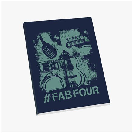 Sanam: #FabFour Instruments - Notebook [Pre-order - Ships 24th January 2018]