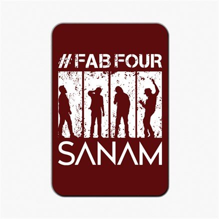 Sanam: #FabFour Silhouette - Fridge Magnet [Pre-order - Ships 24th January 2018]
