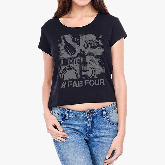 Sanam: #FabFour Intruments Crop Top [Pre-order - Ships 29th January 2018]