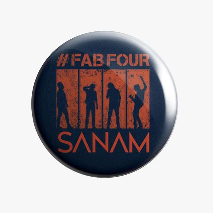 Sanam: #FabFour Silhouette - Badge [Pre-order - Ships 24th January 2018]