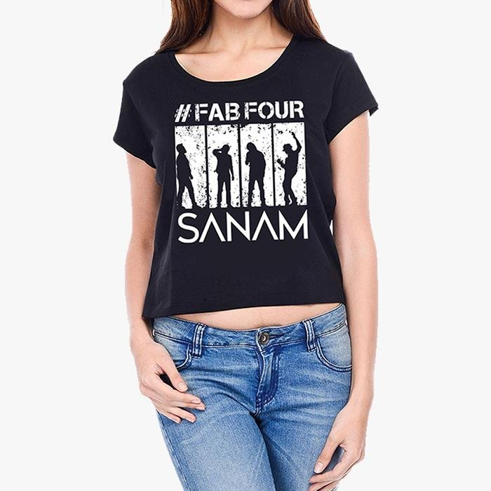 Sanam: #FabFour Silhouette Crop Top [Pre-order - Ships 29th January 2018]