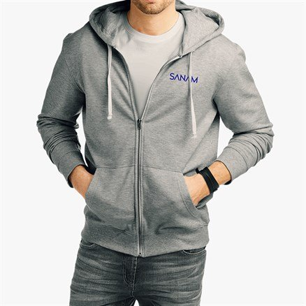 Sanam: Logo Hoodie - Grey [Pre-order - Ships 29th January 2018]