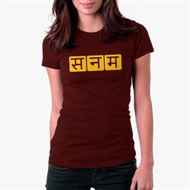 Sanam: Hindi Logo - Women's T-shirt [Pre-order - Ships 29th January 2018]