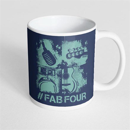 Sanam: #FabFour Instruments - Coffee Mug [Pre-order - Ships 24th January 2018]