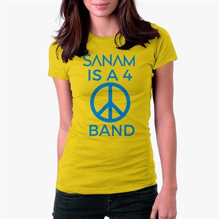 Sanam Is A 4 Peace Band - Women's T-shirt [Pre-order - Ships 29th January 2018]