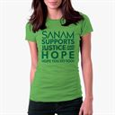 Sanam Supports Justice And Hope - Women's T-shirt [Pre-order - Ships 29th January 2018]