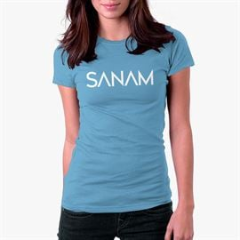 Sanam: Logo Light Blue - Women's T-shirt [Pre-order - Ships 29th January 2018]
