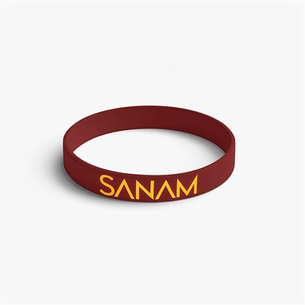 Sanam: Logo - Maroon Reversible Wristband [Pre-order - Ships 24th January 2018]