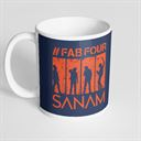 Sanam: #FabFour Silhouette - Coffee Mug [Pre-order - Ships 24th January 2018]