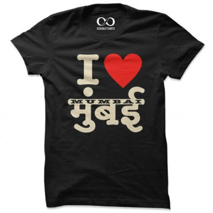 I Love Mumbai - Black