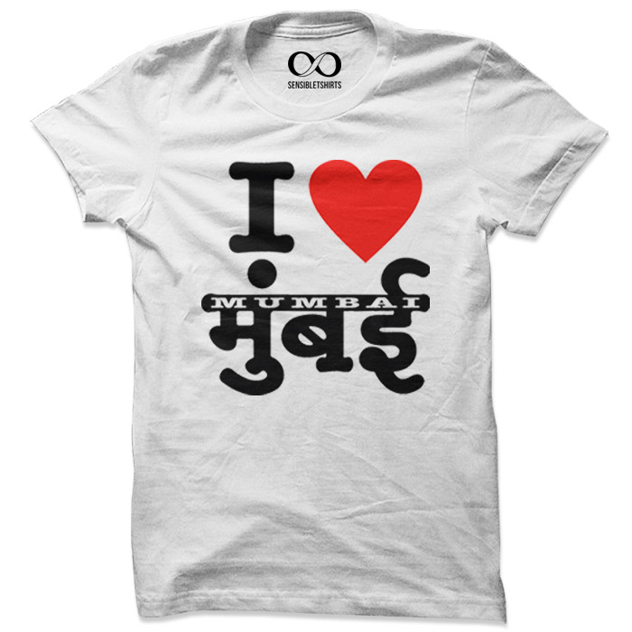 I Love Mumbai - White