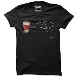 Coffee (Black) - T-shirt