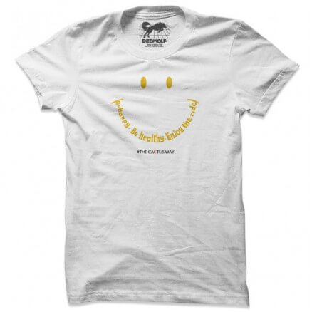 Be Happy. Be Healthy. Enjoy The Ride (White)