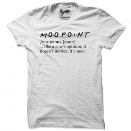 Cow's Opinion (White) - T-shirt