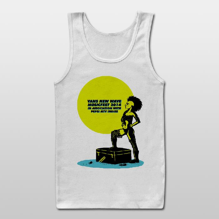 The New Wave Fest official Unisex Tank Top + Free Magnet