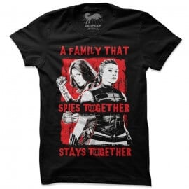 A Family That Spies Together - Marvel Official T-shirt