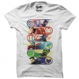 Avengers Line Up - Marvel Official T-shirt