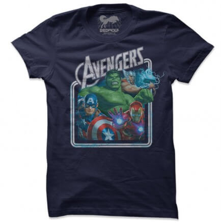 Avengers: Retro - Marvel Official T-shirt