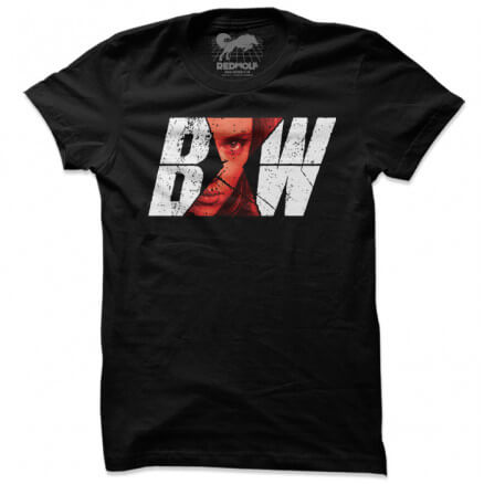 Black Widow Superimpose - Marvel Official T-shirt