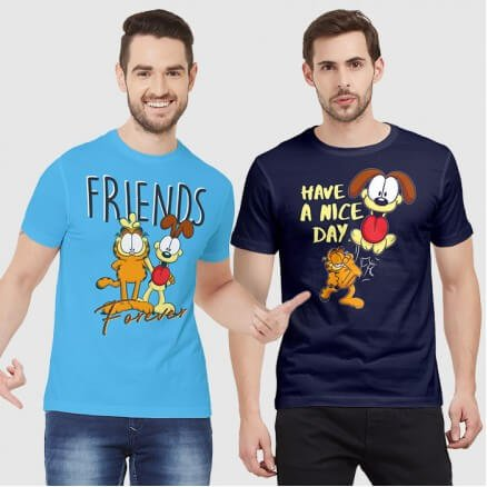 Combo Tees: Friends Forever & Have A Nice Day - Garfield Official T-shirt
