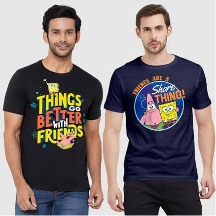 Combo Tees: Shore Thing & Better With Friends - SpongeBob SquarePants Official T-shirt
