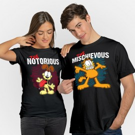 Combo Tees: The Mischievous & The Notorious - Garfield Official T-shirt