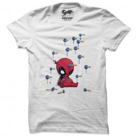 Deadpool Chibi Darts - Marvel Official T-shirt