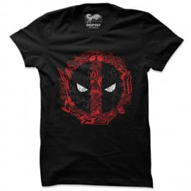 Deadpool: Scribble Logo - Marvel Official T-shirt