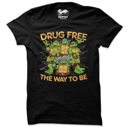 Drug Free - TMNT Official T-shirt