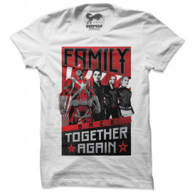 Family Back Together Again - Marvel Official T-shirt