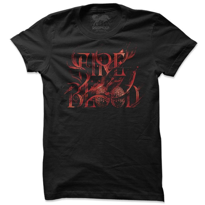 Fire And Blood - Game Of Thrones Official T-shirt