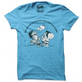 Friends Chilling Together - Peanuts Official T-shirt