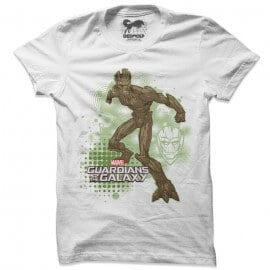Furious Groot - Marvel Official T-shirt