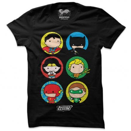 Justice League: Chibi - Justice League Official T-shirt