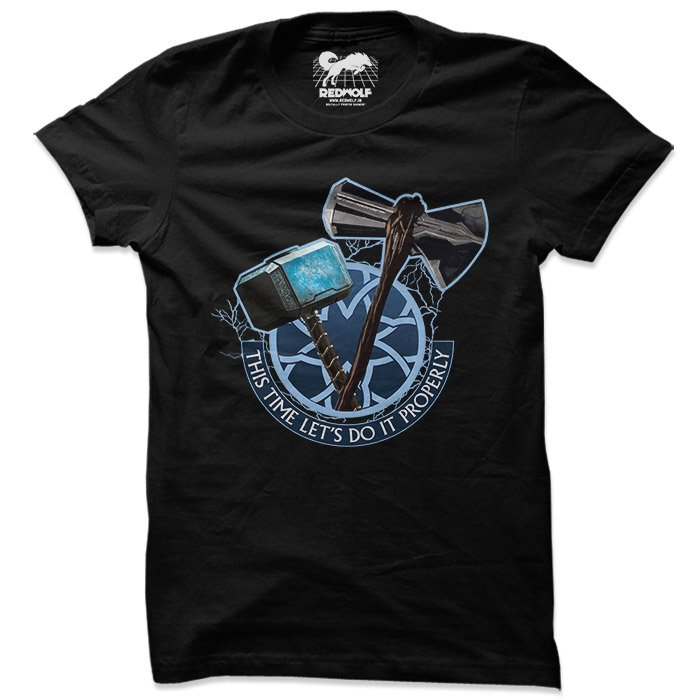Let's Do It Properly - Marvel Official T-shirt