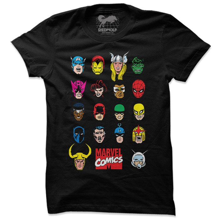 Marvel: Retro Characters - Marvel Official T-shirt