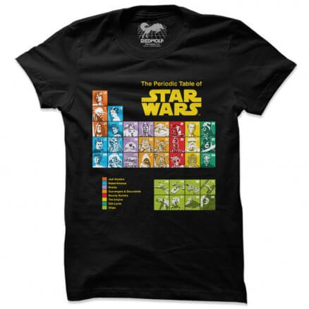 Periodic Table - Star Wars Official T-shirt