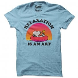 Relaxation Is An Art - Peanuts Official T-shirt