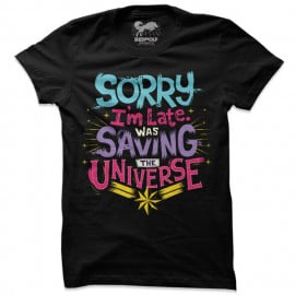 Sorry I'm Late - Marvel Official T-shirt