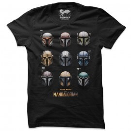 The Mandalorian Helmets - Star Wars Official T-shirt
