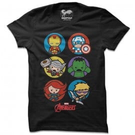 The Original Six: Chibi - Marvel Official T-shirt
