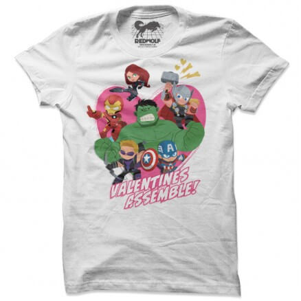 Valentines Assemble - Marvel Official T-shirt