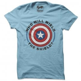 Wield The Shield Emblem - Marvel Official T-shirt