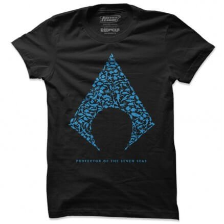 Protector Of The Seven Seas - Aquaman Official T-shirt [Pre-order - Ships Between 15th-20th June 2020]